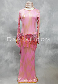 pink and gold Saidi dress