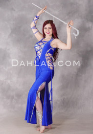Royal Blue Beledi Egyptian Dress