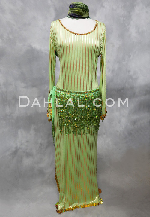lime and gold saidi dress