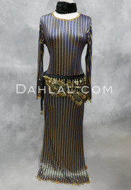 navy and gold Saidi dress