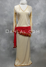 white and gold Saidi dress