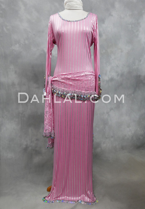 pink and silver Saidi dress