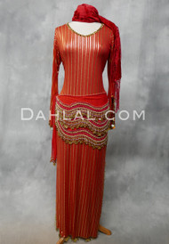 red and gold Saidi dress