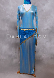 turquoise and gold saidi dress