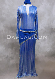 royal blue and silver Saidi dress