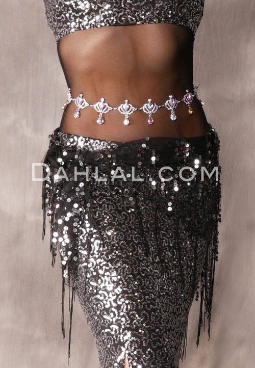 Rhinestone Crown Waist Belt