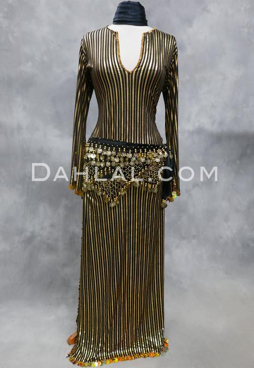 black and gold Saidi dress