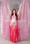 coral Egyptian bellydance costume