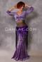Cleopatra Purple and Lavender Glittered Leopard Velvet Mock Wrap Top