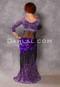 Back View with Purple and Black Pailette Egyptian Shawl