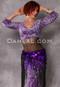 purple leopard print velvet mock wrap top