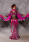 Cleopatra Pink and Fuchsia Glittered Leopard Velvet Top