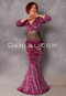 Cleopatra Pink and Fuchsia Glittered Leopard Velvet Top and Matching Skirt