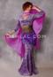 Cleopatra Purple and Lavender Glittered Leopard Mermaid Skirt