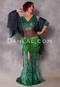 Cleopatra Emerald and Green Glittered Leopard Mermaid Skirt