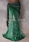 emerald green leopard print mermaid skirt