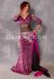 Cleopatra Pink and Fuchsia Glittered Leopard Mermaid Skirt