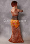 orange leopard print belly dance costume