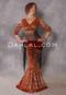 orange and copper leopard print costume