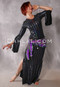 Black Hologaphic Striped Aziza Saidi Dress