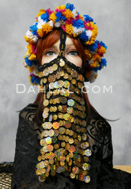 Gold Crocheted Face Veil