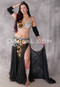 Diamonds and Pearls Black, Gold and Silver Egyptian Beaded Costume