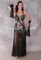 Crystal Florae Egyptian Beaded Black Dress