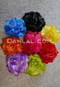 multi colored flower hair clips