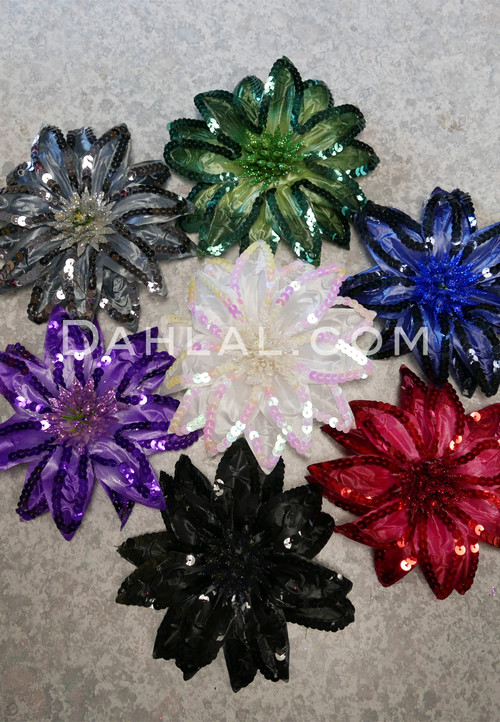 multi colored hair flowers