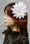 white sequins hair flower