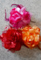 fuchsia, red and orange hair flowers