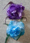 purple and turquoise hair flowers