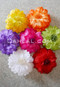 multi-colored hair flower clips