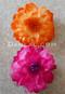 orange and fuchsia hair flowers