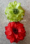 green and red flower clips