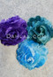 purple, teal and turquoise hair flowers