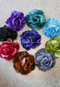 satin and lace roses