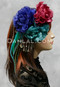 satin and lace hair flowers