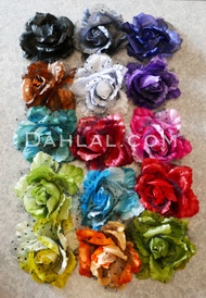 multi-color hair flowers