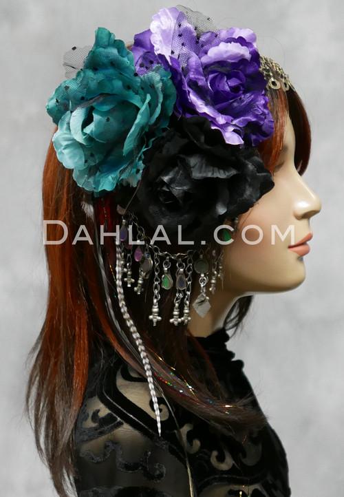 polka dot hair flowers