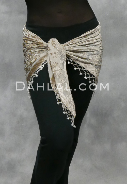 champagne burnout shawl