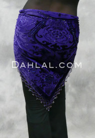 back view purple shawl