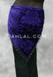 back view purple shawl