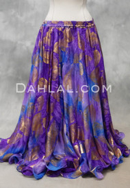 Earthly Enchantment Double Chiffon Egyptian Skirt in Lavender, Royal Blue and Purple