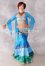 Halter Coin Top and Matching Hip Scarf for Belly Dance