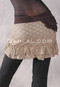 Brown Waistband and Pocket with Dark Taupe Lace Skirt