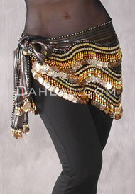Metallic Striped Egyptian New Wave Wrap Hip Scarf