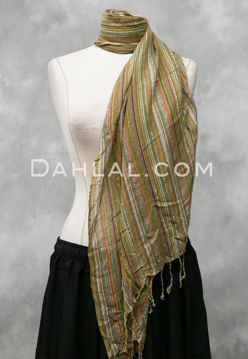 Woven Striped Scarf 7