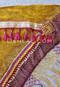 Gold Tribal Print Scarf close up