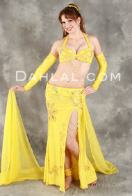 COASTAL SUNSET by Pharaonics of Egypt, Egyptian Belly Dance Costume, Available for Custom Order